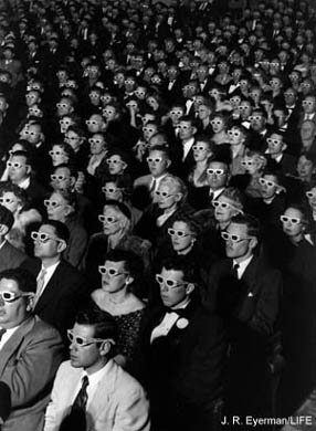 Don't these folks look fashionable?  3-D at its' best!